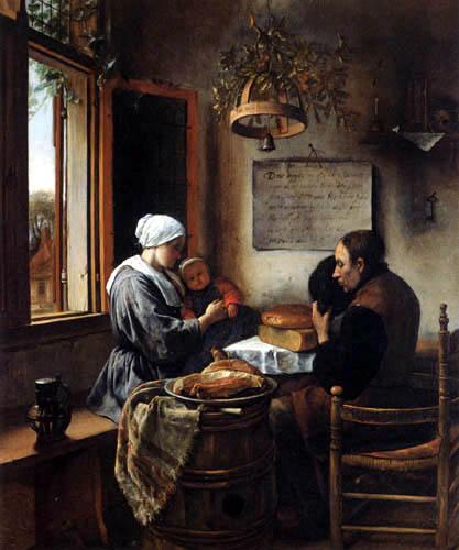 Jan Havicksz. Steen - Das Dankgebet vor der Mahlzeit