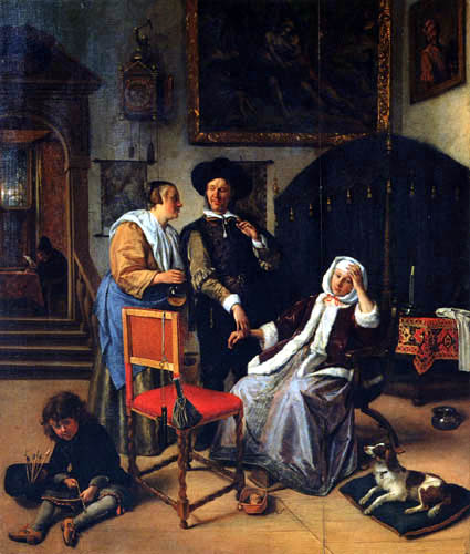 Jan Havicksz. Steen - La Visita del medico