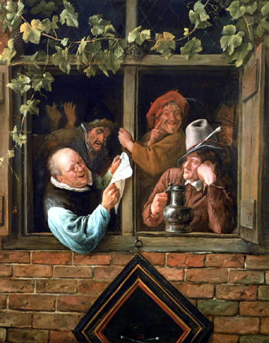 Jan Havicksz. Steen - Rhetoriker am Fenster