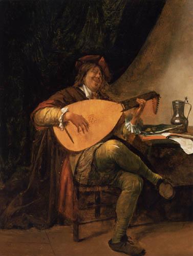 Jan Havicksz. Steen - Selbstporträt als Lautenspieler