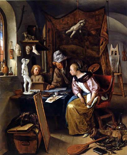 Jan Havicksz. Steen - The studio of the painter