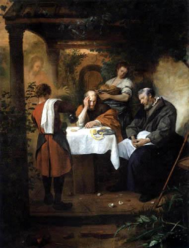 Jan Havicksz. Steen - Das Mahl von Emmaus