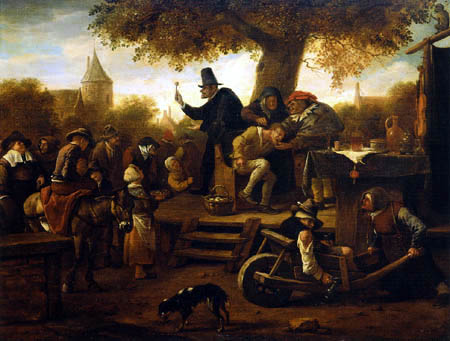 Jan Havicksz. Steen - Cutting the Stone or The Extraction of the Stone of Madness