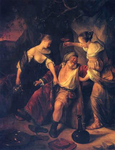 Jan Havicksz. Steen - Lot und seine Töchter
