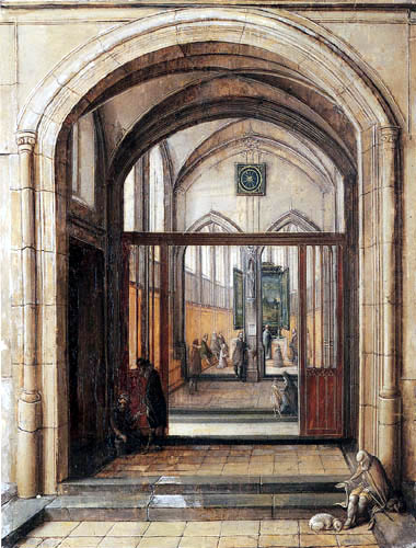 Hendrik van Steenwijk II - The entrance to a church