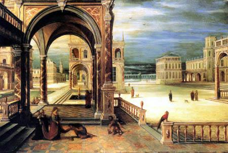 Hendrick van Steenwyck der Jüngere - Frau in einem Renaissancepalast