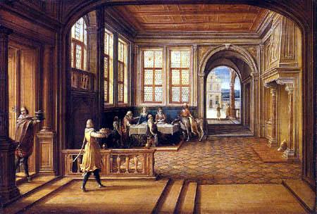 Hendrik van Steenwijk II - Palace interior