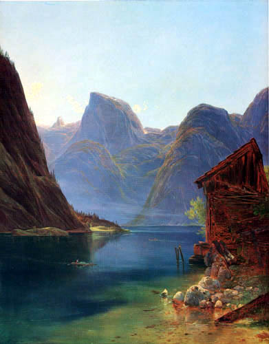 Franz Steinfeld - View of the Hallstaett lake