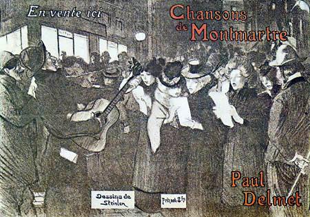 Théophile Alexandre Steinlen - Poster for 'Chansons de Montmartre'