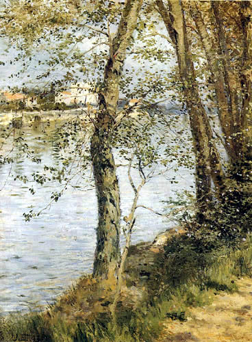 Robert Hermann Sterl - Landscape near Billancourt