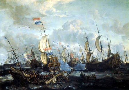 Abraham Storck - The four-day battle, 11 - 14 June 1666
