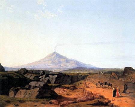 Ludwig Philipp Strack - Landscape, Mount Etna