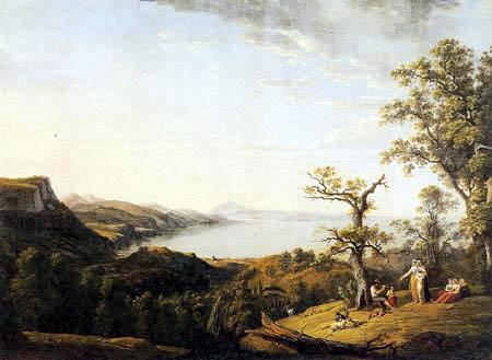 Ludwig Philipp Strack - Italian Landscape