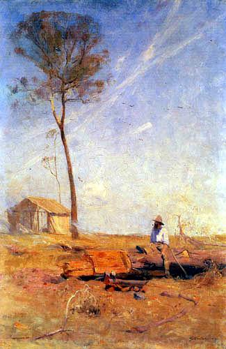 Arthur Ernest Streeton - La cabaña