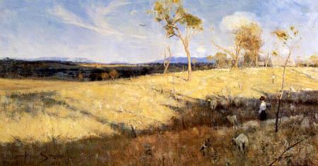 Arthur Ernest Streeton - Golden Summer, Eaglemont