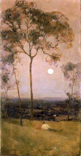 Arthur Ernest Streeton - Rural Scene at Dusk