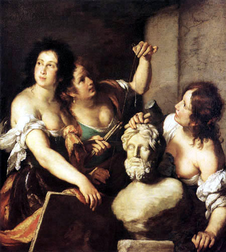 Bernardo Strozzi - Allegory of the fine arts