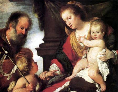Bernardo Strozzi - The holy family