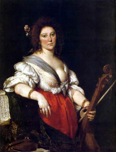Bernardo Strozzi - La violoniste de viole de gambe