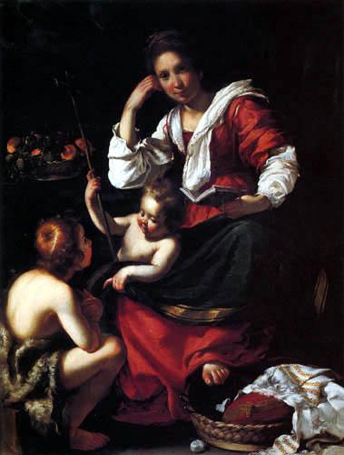 Bernardo Strozzi - La Virgen y el Niño