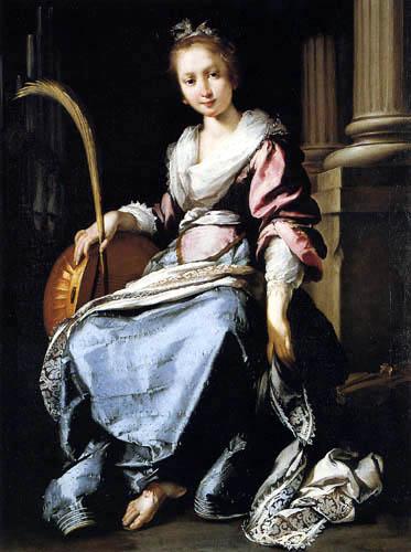 Bernardo Strozzi - The holy Cecilia