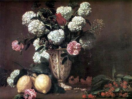 Bernardo Strozzi - Flowers in a vase
