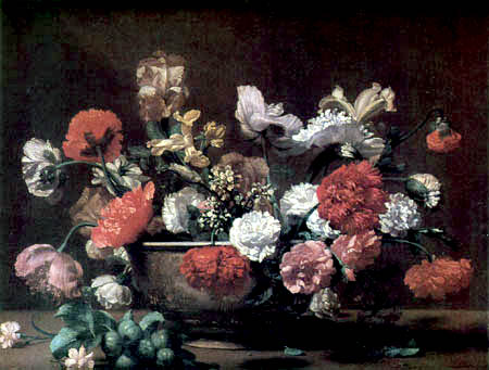 Bernardo Strozzi - Roses and other flowers in a vase