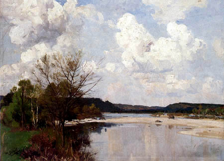 Otto Strützel - Frühling an der Isar