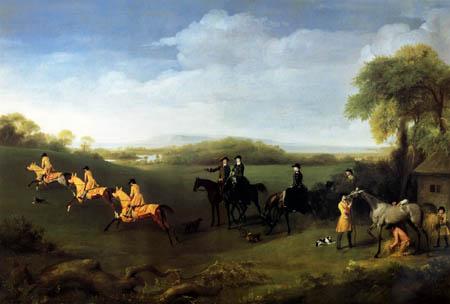 George Stubbs - Jagdszene zu Pferde