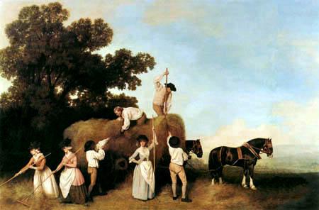 George Stubbs - At the hay harvest