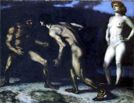 Franz von Stuck - The fight for the woman