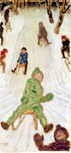 Franz von Stuck - Rodelnde Kinder
