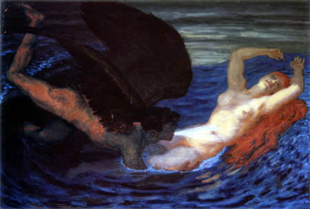 Franz von Stuck - Wind and wave