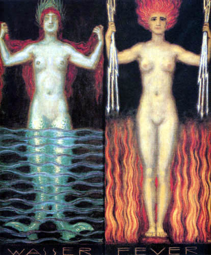 Franz von Stuck - Water and fire