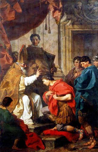 Pierre Subleyras - Der hl. Ambrosius und Teodosius