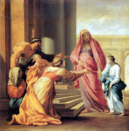 Eustache le Sueur - Mary at the Temple