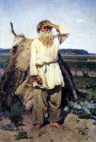 Wassilij (Vasily) Iwanowitsch Surikow (Surikov) - The old gardner