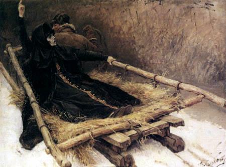Wassilij (Vasily) Iwanowitsch Surikow (Surikov) - The Boyarina Morosova in the carriage