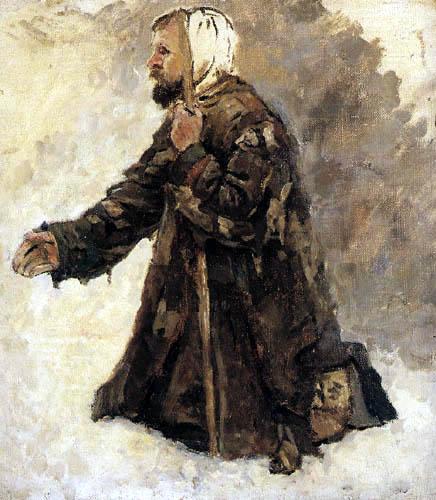 Wassilij (Vasily) Iwanowitsch Surikow (Surikov) - Kniender, alter Mann