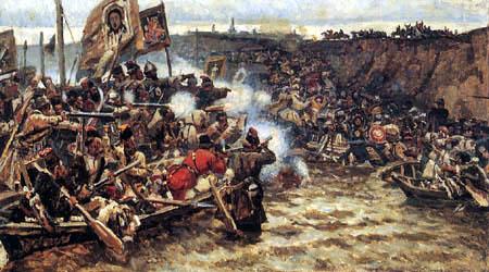 Wassilij (Vasily) Iwanowitsch Surikow (Surikov) - The Capture of Siberia