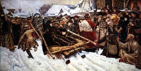 Wassilij (Vasily) Iwanowitsch Surikow (Surikov) - The Boyarina Morozova
