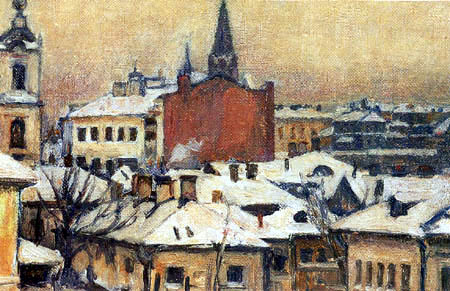 Wassilij (Vasily) Iwanowitsch Surikow (Surikov) - View of the Kremlin of Moscow