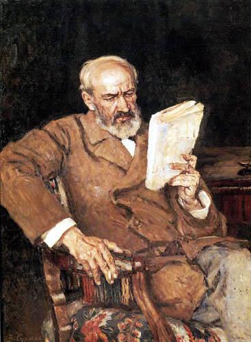 Wassilij (Vasily) Iwanowitsch Surikow (Surikov) - The doctor A. Jeserski