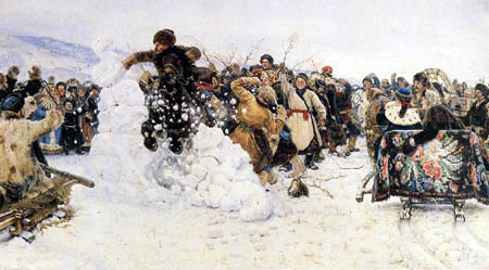 Wassilij (Vasily) Iwanowitsch Surikow (Surikov) - Capture of a snow city