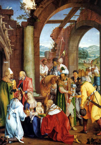 Hans Suess (Süss, Süß) von Kulmbach - Adoration of the Kings