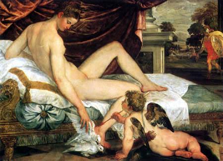 Lambert Sustris - Venus and Amor
