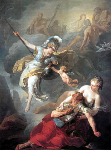Joseph Benoît Suvée - The conflict between Mars and Minerva