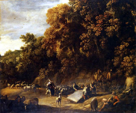 Herman van Swanevelt - Jacob and Rachel at the Well