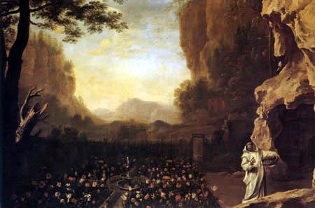 Herman van Swanevelt - Landscape with St. Bruno