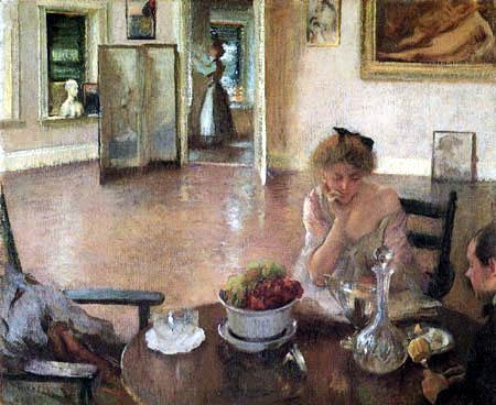Edmund Charles Tarbell - In The Breakfast Room